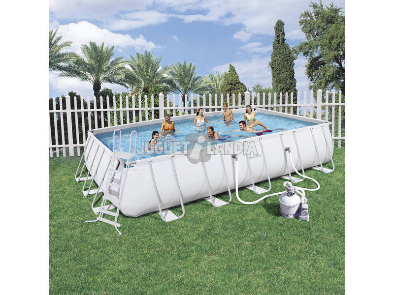 Acheter piscine d montable 671x366x132 cm bestway 56278 for Piscine demontable