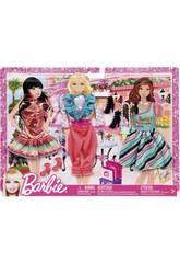 Barbie vestidos pack moda fiesta