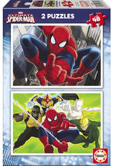 Puzzle 2X48 Ultimate Spiderman