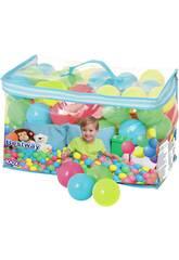 100 Bolas de plastico surtidas de colores