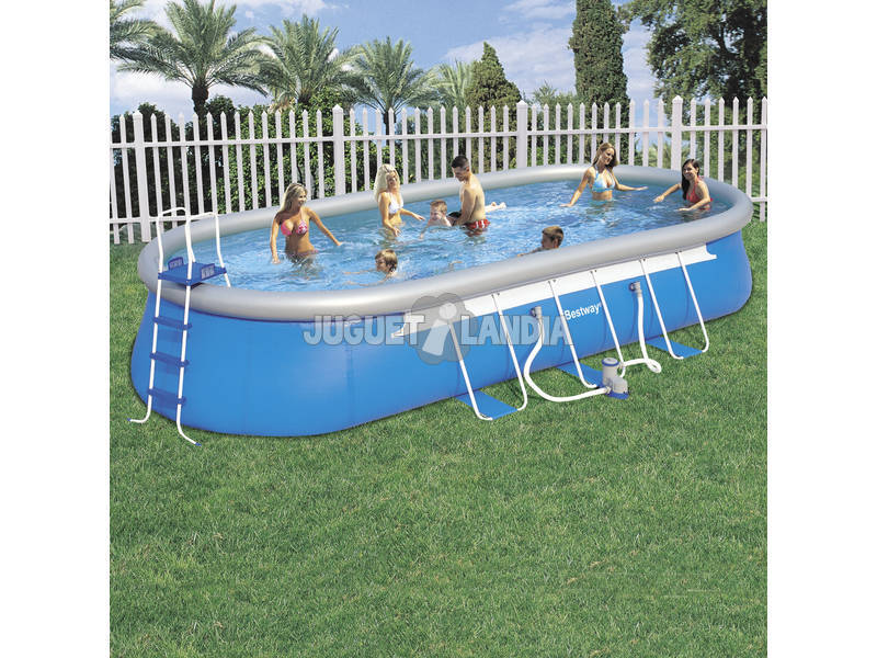 Acheter piscine d montable 732x366x122 cm bestway 56125 for Piscine demontable