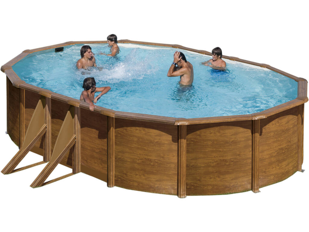 acheter piscine gre pacific imitation bois 610x375x120 c juguetilandia. Black Bedroom Furniture Sets. Home Design Ideas