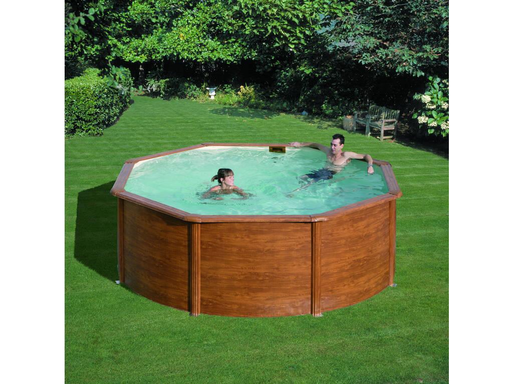 Acheter piscine gre pacific imitation bois 350x120 cm for Acheter piscine en bois