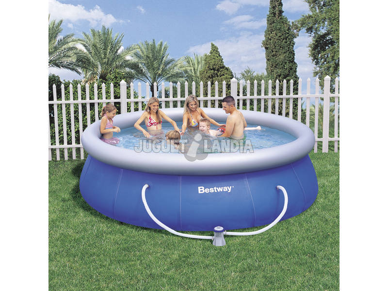 Acheter piscine d montable 366x91 cm bestway 57166 for Piscine demontable