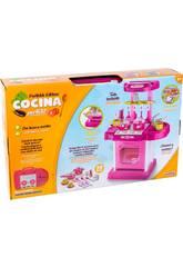 Cocina de Juguete Rosa Luces y Sonidos 30 piezas