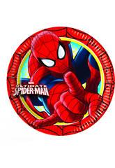 Spiderman pack 8 platos 23 cm.