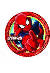 Spiderman pack 8 platos 20 cm.