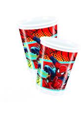 Spiderman pack 8 vasos 200 ml.
