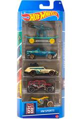 Hot Wheels pac 5 Veh�culos de Juguete