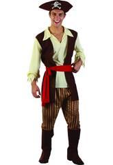 Disfraz Pirata Caribeño Hombre Talla L
