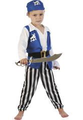 Disfraz Pirata Azul Bebé Talla S