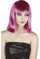 Peluca Adulto Pop Star Fucsia