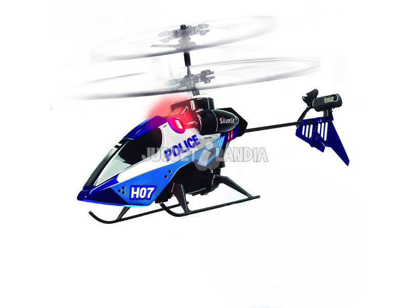 letra police in helicopter:
