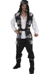 Disfraz Pirata Calaveras Hombre Talla L