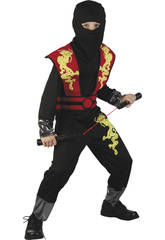 Disfraz Dragon Ninja Rojo Niño Talla L