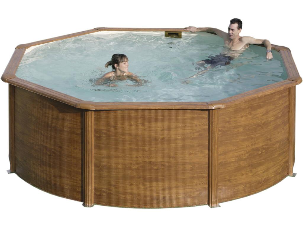 acheter piscine san marine imitation bois 240x120 cm juguetilandia. Black Bedroom Furniture Sets. Home Design Ideas