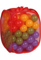 Bolsa De Tela Con 100 Bolas 7 cm. De Colores