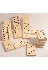 Domino madera con fichas grandes