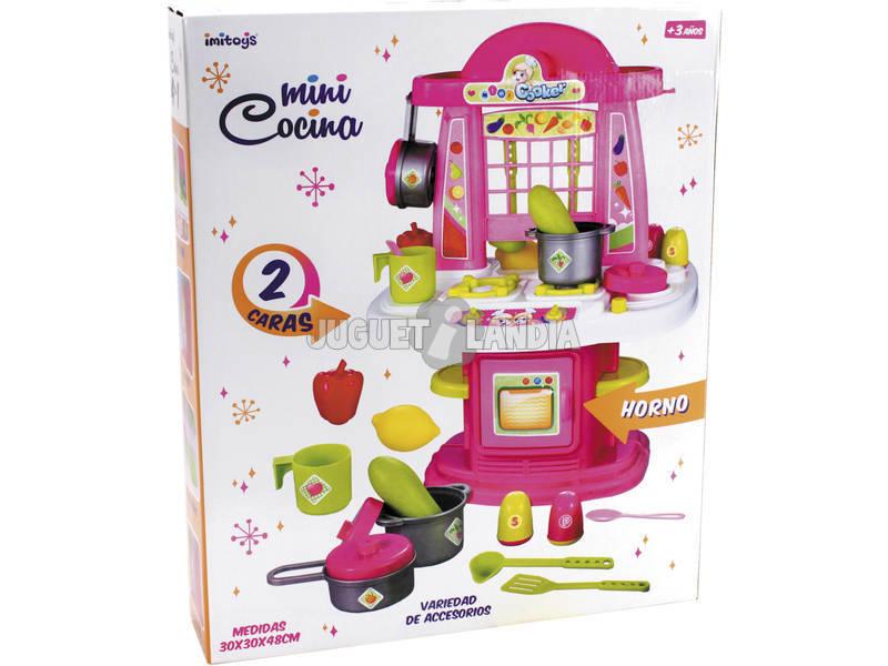 Acheter cuisine 48 cm rose avec accessoires juguetilandia for Accessoire cuisine rose