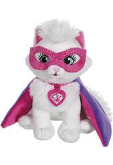 Peluche Barbie Superprincesa Mascota 18 cm.