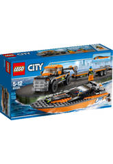 Lego City 4X4 con Lancha