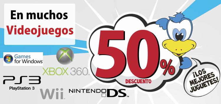 50% Descuento en muchos videojuegos