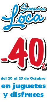 semana loca juguetilandia - cheque regalo 40%