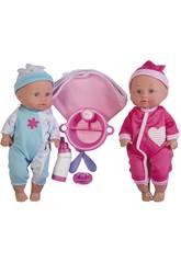 Poupées Jumeaux Bébé 30 cm avec Accessoires