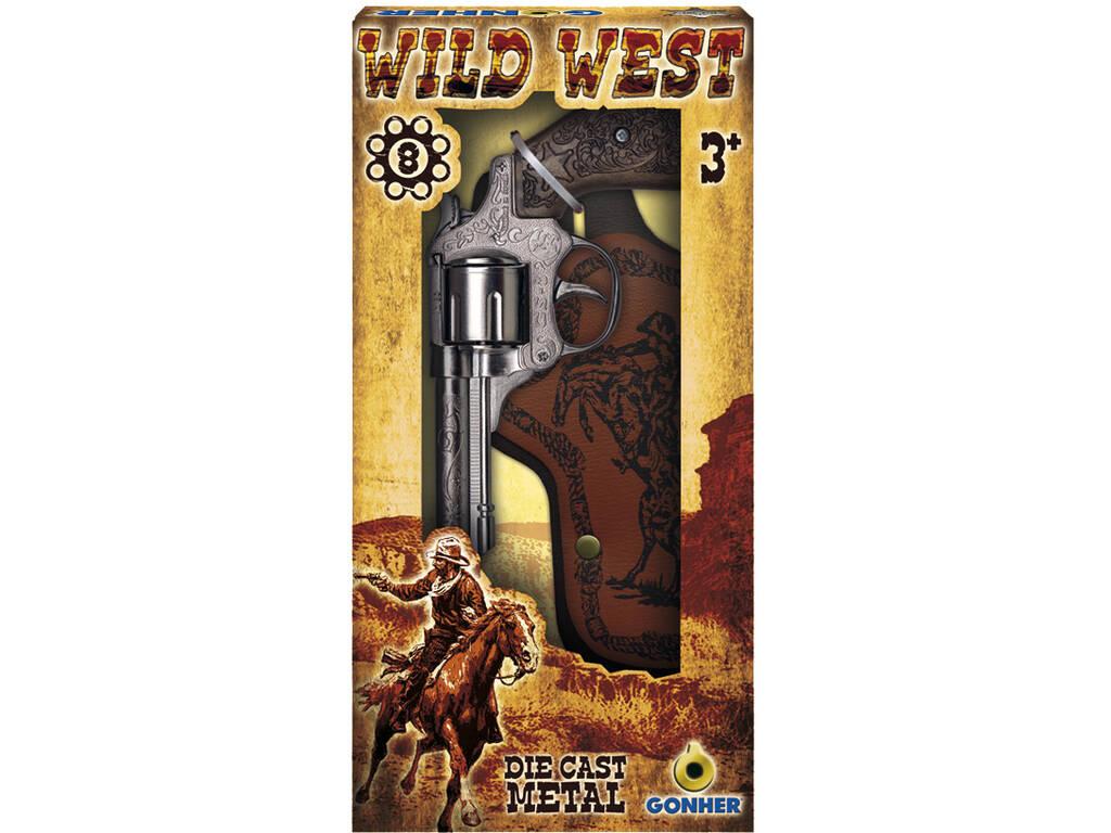 Revólver Wild West Set 8 Tiros Gonher 201/0