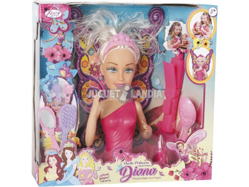 Busto Con Manos Surtido Diana Princesa de las Hadas 27x12cm