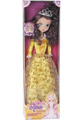 Boneca Princesa Ana Vestido Dourado 75cm