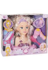 imagen Busto Surtido Princesa Alexia con Accesorios 23x19x10cm