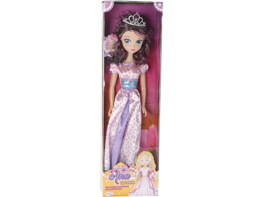 Boneca Princesa Ana Vestido Rosa 75cm