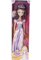 Bambola Principessa Anna Vestito Rosa 75 cm