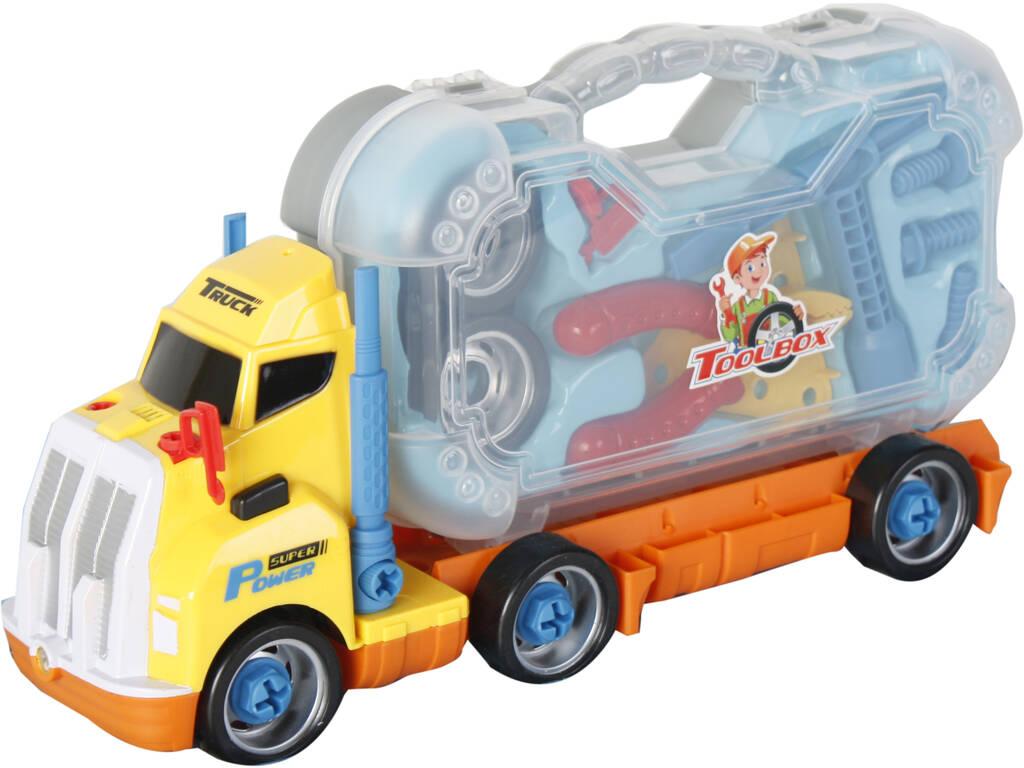 Vehículo Camión de Herramientas Surtido Con Sonido y Proyector 19x38x11cm