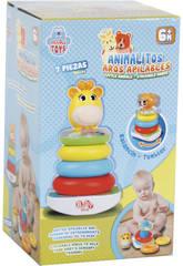 Spielzeug Baby Baby Tier Sortiment Stacking Hoops und Sound 21cm 7 Stück