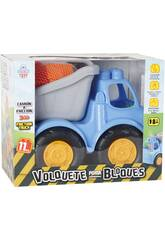 imagen Camión Volquete a Fricción Con Bloques 11 Piezas 26x32x19cm
