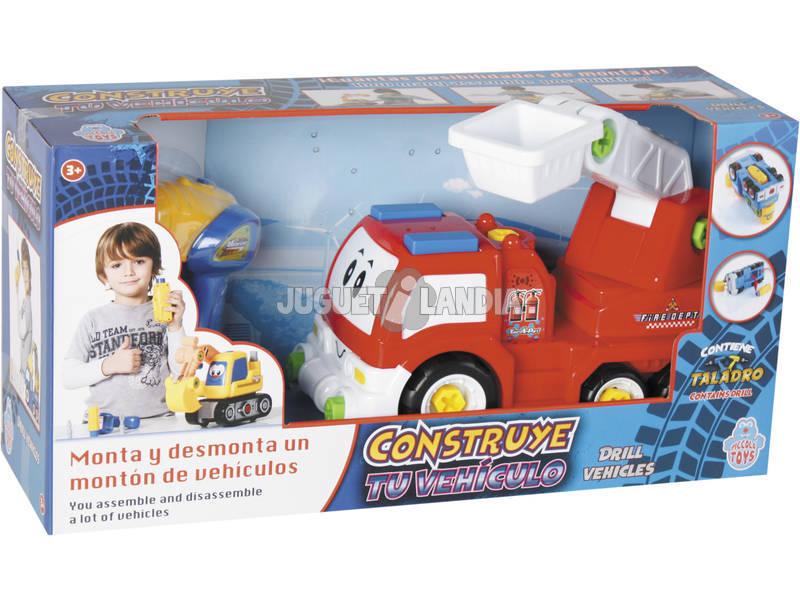 Constrói o teu Veículo Camião Bombeiros 18x25x14cm