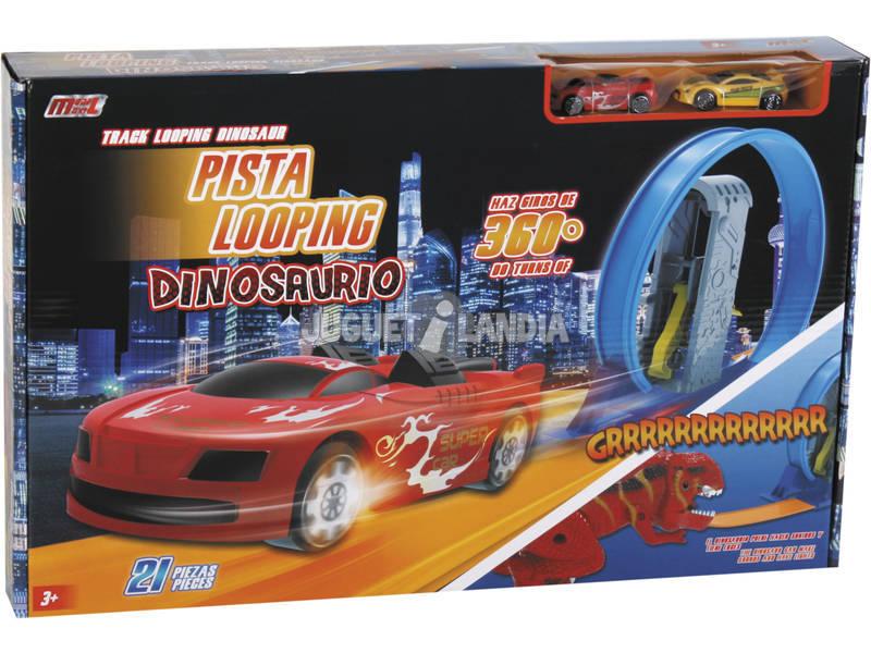 Pista Looping Dinossauro com Carros High Speed