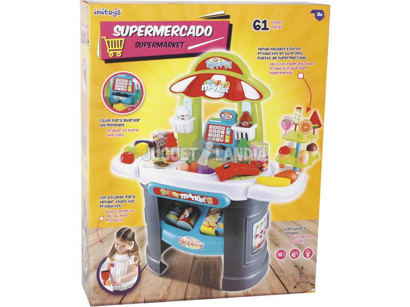 Supermercado Com Luzes e Sons 61 Peças 68x66x25cm