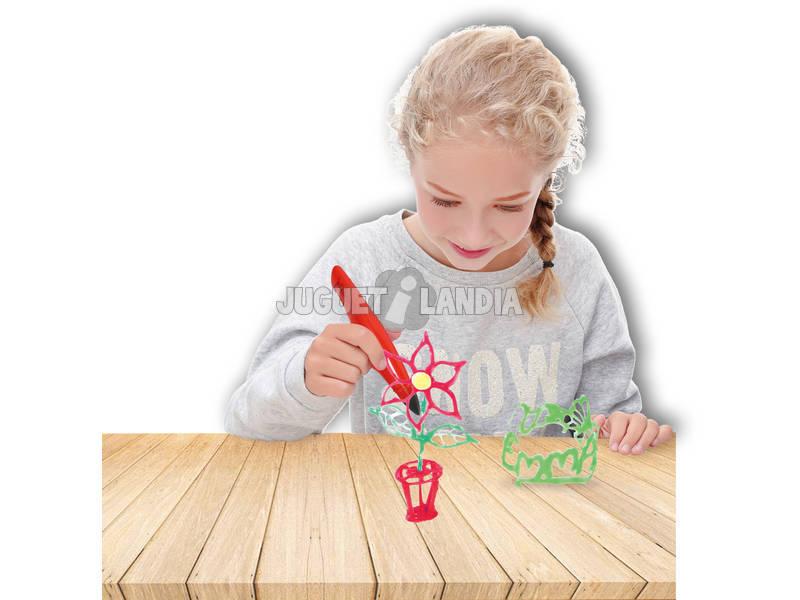 Manualidades Caneta Mágica Figuras 3D Com 3 Cores
