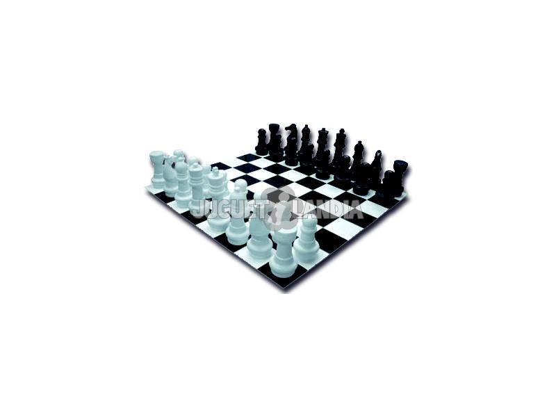 Jogo Gigante Xadrez Com Tabuleiro 122x122cm e Peças 20 - 31cm