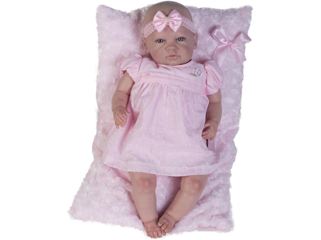 Boneca Reborn Baby Vestido Rosa Berbesa 5300