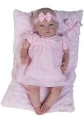 Muñeca Reborn Baby Vestido Rosa Berbesa 5300