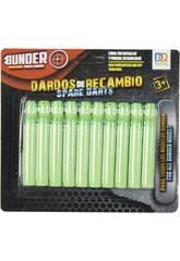 Fléchettes de Rechange Fluorescentes Assortiment Lance-Fléchettes Bunder 20 Piezas