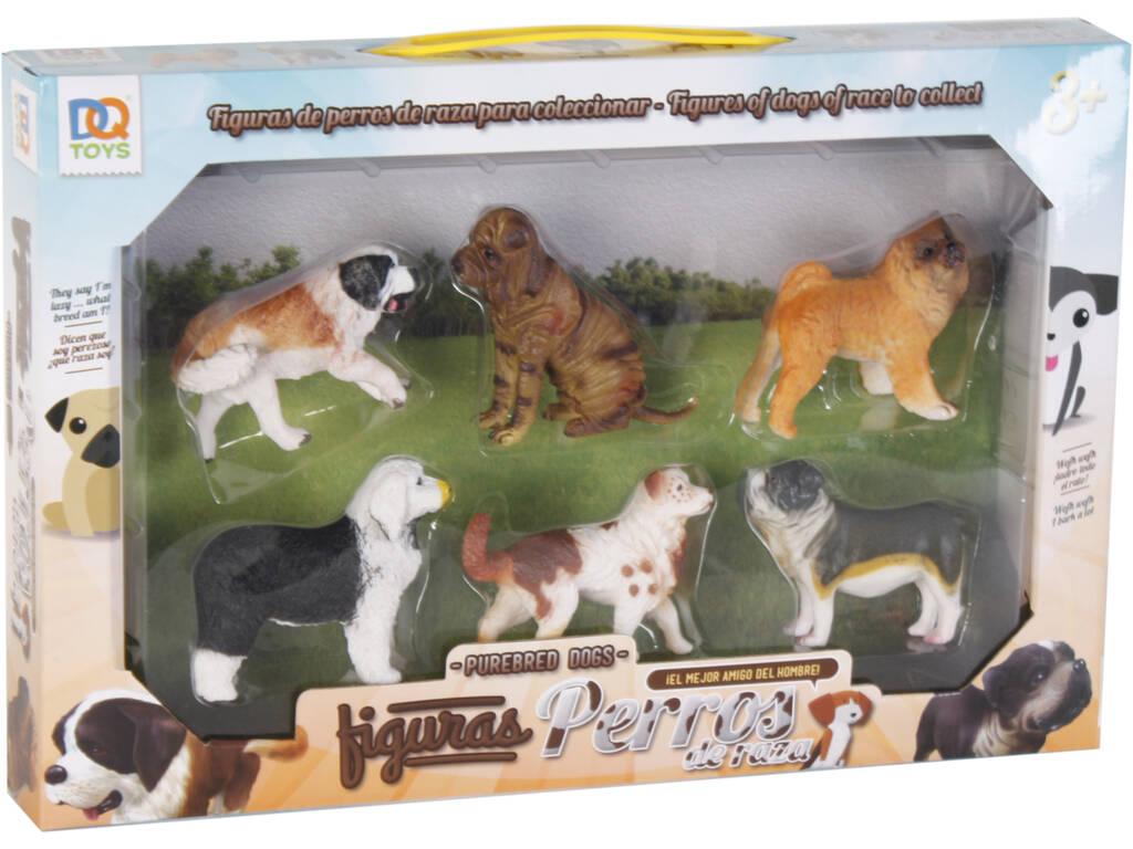 Figuras Set Cães Raça 6 Unidades 6cm