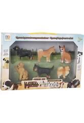 imagen Figuras Set Perros de Raza 6 Unidades 6cm
