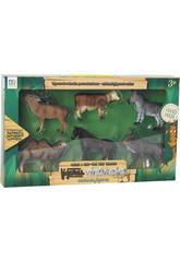 Figuras Set Animales 6 Unidades 9cm