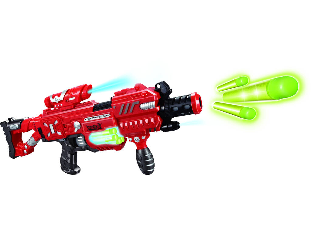 Lança - dardos Bunder Surtido 18x55x7cm Com 20 Dardos Fluorescentes