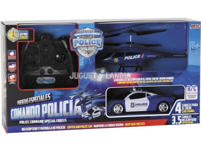 Radio Control Assortiro Elicottero e Macchina Polizia Forze Speciali